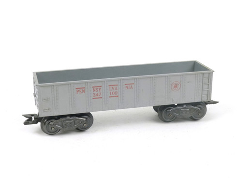 Marx Trains 347100 Pennsylvania Delux 8 Wheel Gondola Silver O/O27 Gauge