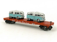 MTH Trains 30-76677 Railking Southern Pacific Flatcar with VW Bus