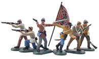 WBritain Plastic Toy Set Soldiers Confederate Infantry Set No 2  52001