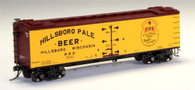 MTH Model Trains HO Wood Sided Refrigerator Car Hillsboro Pale Beer Car No 3537