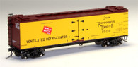 MTH Model Trains Set HO 80-94043 R40-2 Wood Sided Refrigerator Car Milwaukee Road Car No 85219
