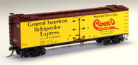 MTH Model Trains HO Scale 80-94046 R40-2 Wood Sided Refrigerator Car Toy Trains Set