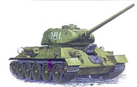 ZVEZDA Model Tank Set Kit 3533 Soviet T-34/85 Medium Tank 1/35 Scale