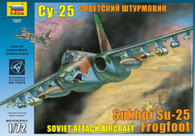 ZVEZDA Model Aircraft Set Kit 7227 Soviet Attack Aircraft SU-25 Frogfoot 1/35 Scale