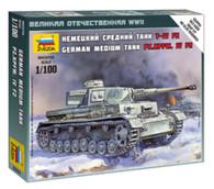 ZVEZDA German Model Panzer Tank Kit 6251. IV F2 1/100 Scale