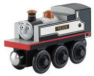 Fisher Price Thomas & Friends Wooden Railway Fearless Freddie Engine Y4401 Real Wood Age 2+