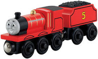 Fisher Price Thomas & Friends Wooden Railway James No 5 Engine and Tender Y4070