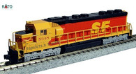 "Model Trains Kato Southern Pacific and Santa Fe Diesel Locomotive EMD SD45 ""Kodachrome"" 176-3122 Cab No 5348 N Scale"
