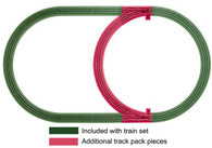 Lionel Model Trains FasTrack  O Scale Inner Passing Loop Add-on Track Pack