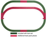 Lionel Model Trains FasTrack  O Scale Outer Passing Loop Add-on Track Pack