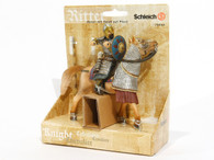 Schleich Knight Rider holding a spear, mounted on horse 70040