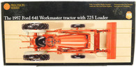 1957 Ford 641 Workmaster tractor with 725 Loader 383 Precision Series Ertl Collectibles 1/16 Scale