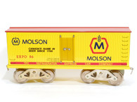 McCoy Standard Gauge Trains Molson Beer Reefer Expo 86 Yellow With Red Roof Very Rare No 295