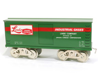 McCoy Standard Gauge Trains Linde Union Carbide Boxcar No 267