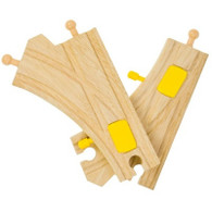 BigJigs Wooden Railway Mechanical Switch Train Track Set of Two BJT219