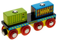 BigJigs Wooden Railway Container Wagon BJT410
