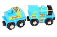 BigJigs Wooden Railway Blue ABC Engine BJT411