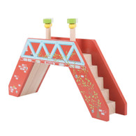 BigJigs Wooden Railway Passenger Footbridge BJT227