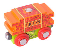 BigJigs Wooden Railway Brick Wagon BJT403