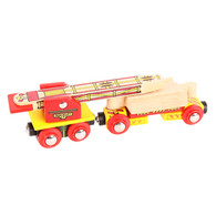 BigJigs Wooden Railway Track Laying Crane Train Wagon BJT417