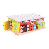 BigJigs Wooden Railway Train Service Shed BJT225