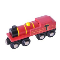 BigJigs Wooden Railway Heritage Collection Metropolitan Locomotive  BJT422