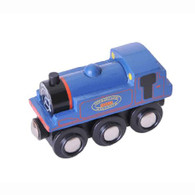 BigJigs Wooden Railway Heritage Collection Kent And East Sussex Blue (Bodiam) Engine BJT436