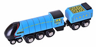 BigJigs Wooden Railway Heritage Collection Mallard Train Engine BJT440