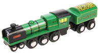 BigJigs Wooden Railway Heritage Collection Typhoon Train Engine BJT448