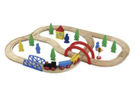 Maxim Railway 40 Piece Wooden Train Set