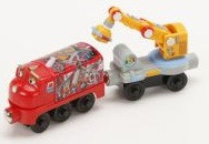 Chuggington Wooden Railway Magnetic Wilson With Crane