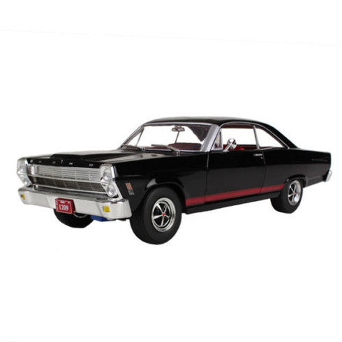 First Gear 1966 Ford Fairlane 427 Black/Red Interior 40-0346 1:25 Scale Diecast Toy Car