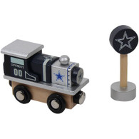 Officially Licensed NFL Dallas Cowboys Football Wooden Railway Train Engine