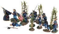 W Britain Miller's Cornfield 6th Wisconsin Regiment Iron Brigade Antietam, 13+ piece set