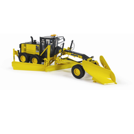 First Gear Diecast Collectible Komatsu GD655-5 Motor Grader With V-Plow And Wing 1/50 Scale