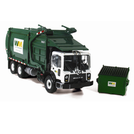 First Gear Diecast Collectible Mack TerraPro Front With Wittke Front Load Refuse With Bin 1/34 Scale