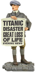 WBritain RMS Titanic Collection Great Loss Of Life - Newsboy Selling Papers