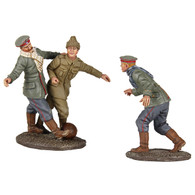 WBritain Soldiers A Friendly Game - 1914 Christmas Truce Soccer Set No. 1, No Man's Land Soccer Match