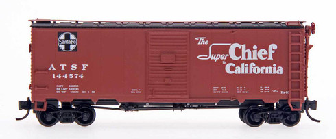 "InterMountain Railway Co. N Scale Model Trains ATSF Santa Fe 10'16"" Modified AAR 40' Box Car"