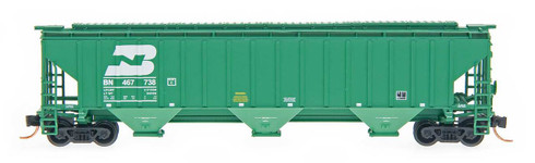InterMountain Railway Co. N Scale Model Trains Burlington Northern 4750 Cubic Foot 3 Bay Covered Hopper