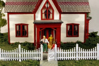 Monroe Models HO Scale Ornate Picket Fence