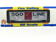 Fox Valley Models HO Scale Trains Soo Line Colormark 7 Post Box Car With X Panel Roof Road Number 18468