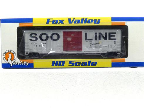Fox Valley Models HO 30030  Soo Line Colormark 7 Post Box Car #18468
