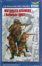 Trumpeter Motorized Regiment Military Figures Plastic Model Kit No. 00403 (Belgrade 1941)