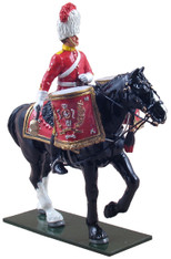W Britain Soldier Royal Scots Dragoon Guards Mounted Kettle Drummer