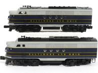 Lionel O Scale Model Trains 6-18166 Baltimore & Ohio FT AA Command Locomotive Set