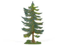 Hornung Art Large Pine Tree 12L Flat Hand Painted Metal Cast