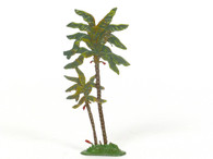 Hornung Art Small Double Palm Tree 22L Flat Hand Painted Metal Cast