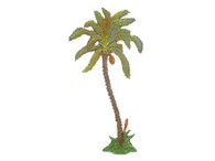 Hornung Art Date Palm Tree Curved Trunk 1L Flat Hand Painted Metal Cast