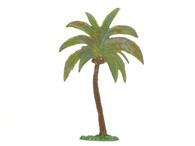Hornung Art Large Palm Tree Curved Trunk 1LP Flat Hand Painted Metal Cast